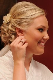 curled updo weddingbee
