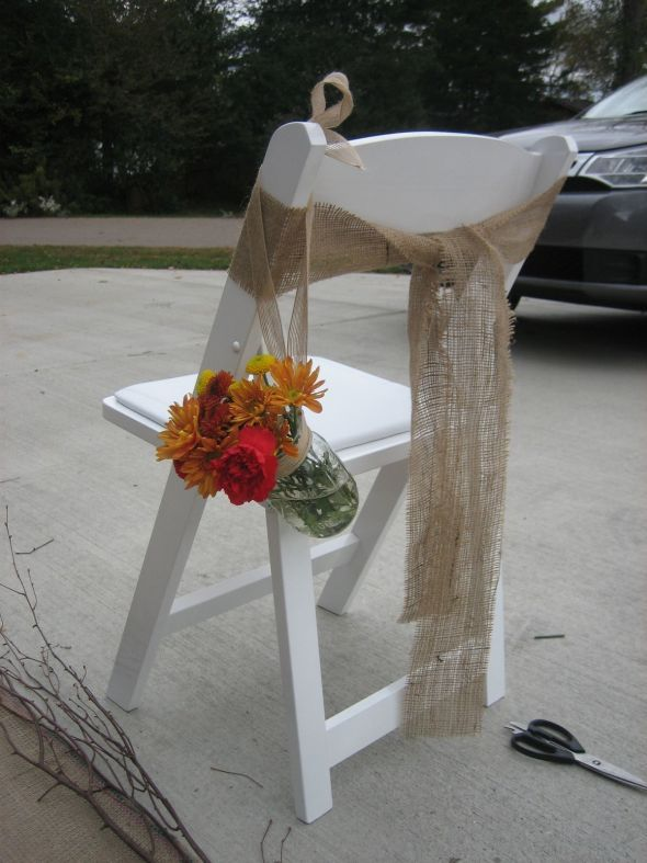 how to make a chair cover for wedding navy blue leather burlap sashes closed