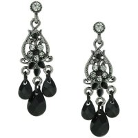 Black earrings with a black dress?