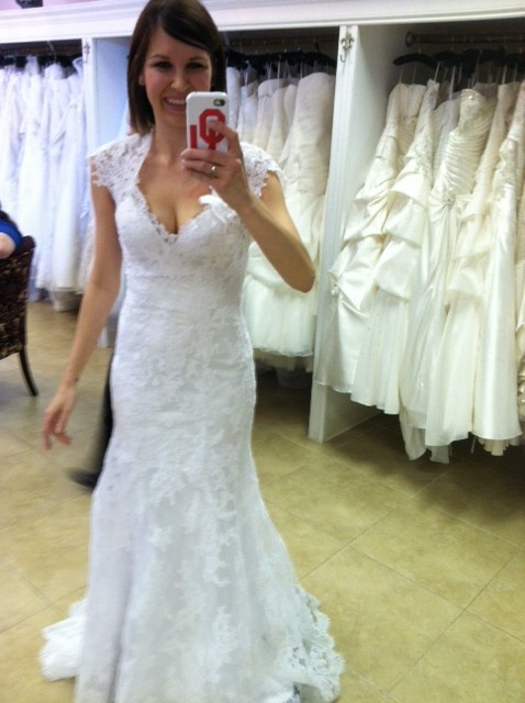 White or Ivory Lace Allure Dress