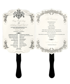 As I attempt: Wedding Program Fan Design