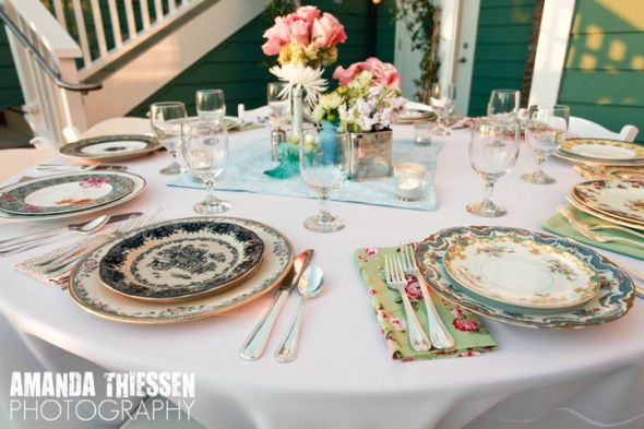 My Collection Of Mismatched China And Centerpieces At Our