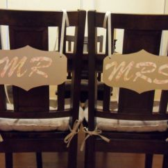 Mr And Mrs Chair Signs Folding Covers Cotton My Diy Pics Included Show Me Yours I M So Excited Think The At Weddings Are Adorable But They Expensive On Etsy Much Cheaper To