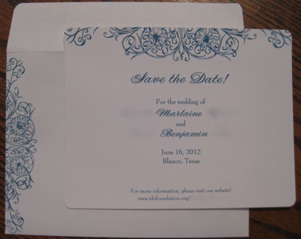 my invitation samples from