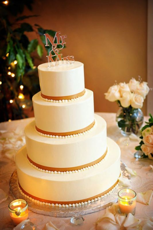Our buttercream cake Simple and classic  Weddingbee Photo Gallery