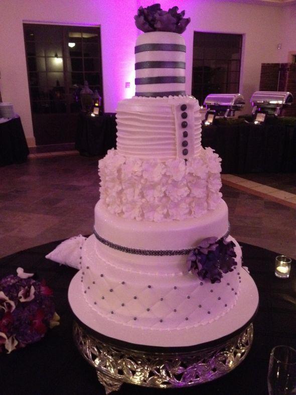 Modern couture 5 tier wedding cake  Weddingbee Photo Gallery