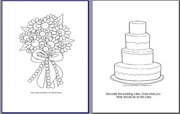 my version of a kids activity book pic heavy  Weddingbee Photo Gallery