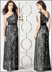 Black Lace Bridesmaid Dresses-