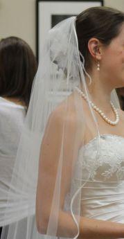 beach wedding veil hair flower