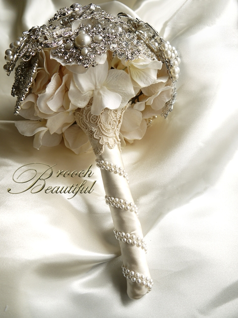 Vintage Pearl  Lace Brooch Bouquet  Weddingbee Photo Gallery