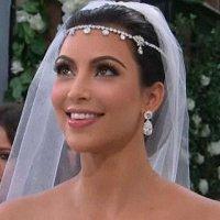 Wedding day hair like Kim K