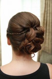 bridesmaids and flower girl hair