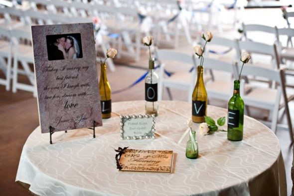 Help Needed Decorating Card And Guest Book Tables
