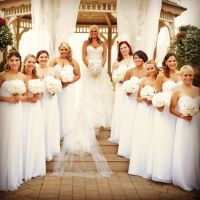 All white bridesmaids dresses! | Weddingbee Photo Gallery