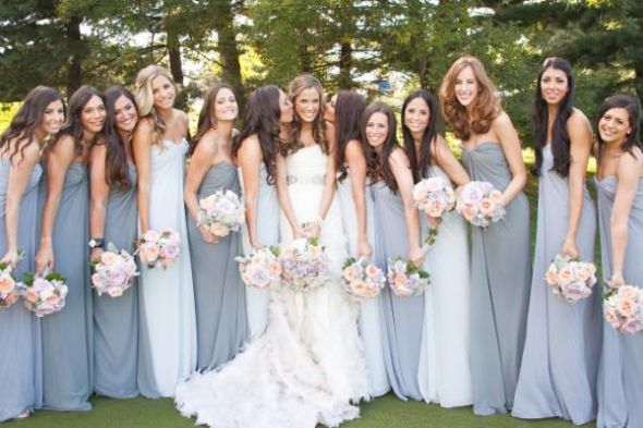 Charcoal Gray Bridesmaids Dresses, What Color Shoes