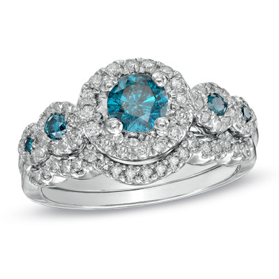 Does anyone have this Zales blue diamond ering