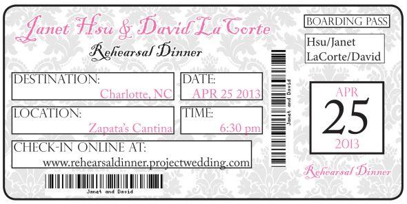 Concert Ticket Wedding Invitation Template Wedding Invitation Sample – Make Your Own Concert Ticket