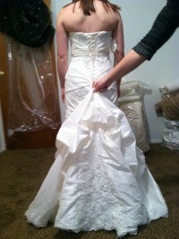 Wedding Gown Alternations  Corset Back and Bustle ...