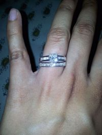 my princess cut e-ring with princess cut channel set ...