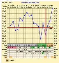 TTC  help interperting charts? (Fertility Friend