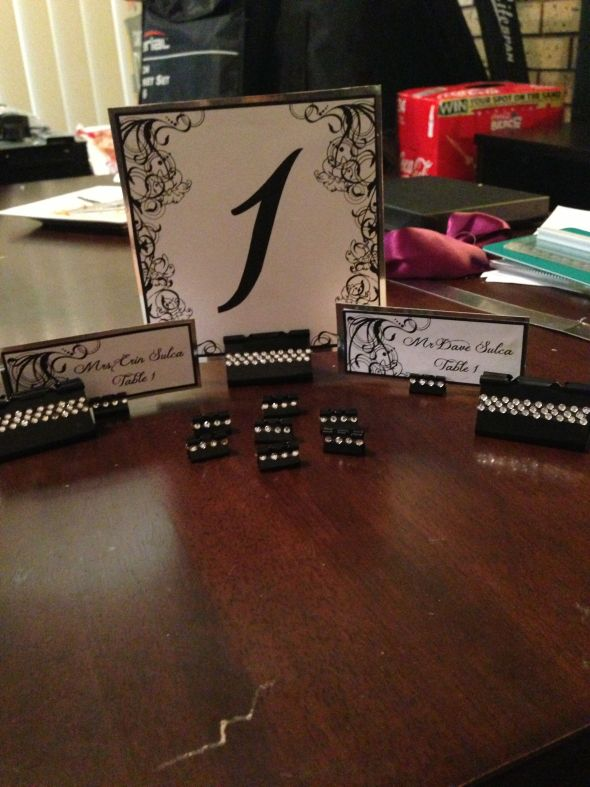 DIY binder clip placecard and table  holders  Weddingbee Photo Gallery