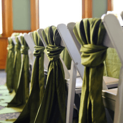 Folding Chair Sashes On Workout Which Chairs For Reception Closed