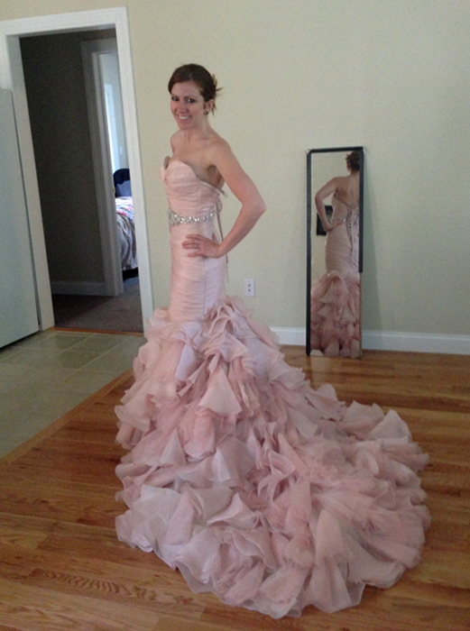 Maggie Sottero Blush Wedding Dress