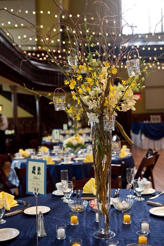 Yellow Centerpieces  Weddingbee Photo Gallery
