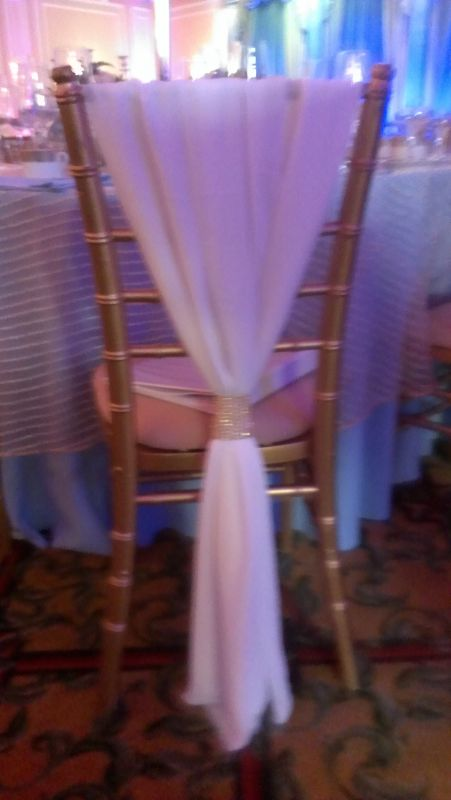 DIY Gold and White Chiavari Chair Covers for Vintage Glam
