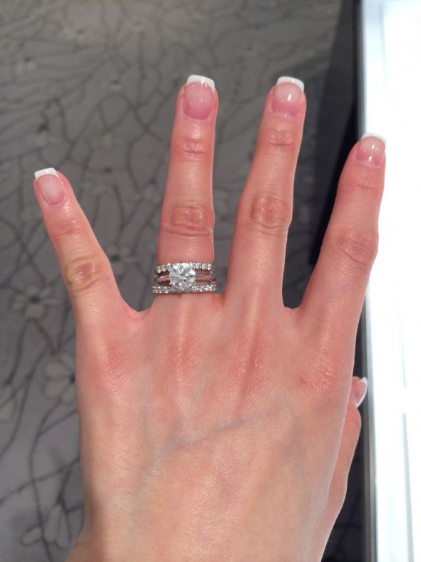 Help With Choosing Wedding Band With Solitaire Ring Photo
