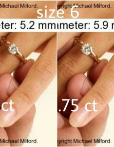 Closed pics comparing diamond sizes ct going up at  time also rh boardsdingbee