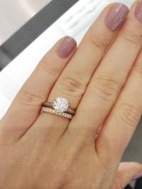 Tiffany Setting + wedding bands - Weddingbee