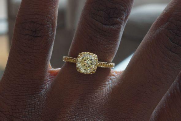 Yellow Gold Yellow Diamond Dream ring  Weddingbee Photo Gallery