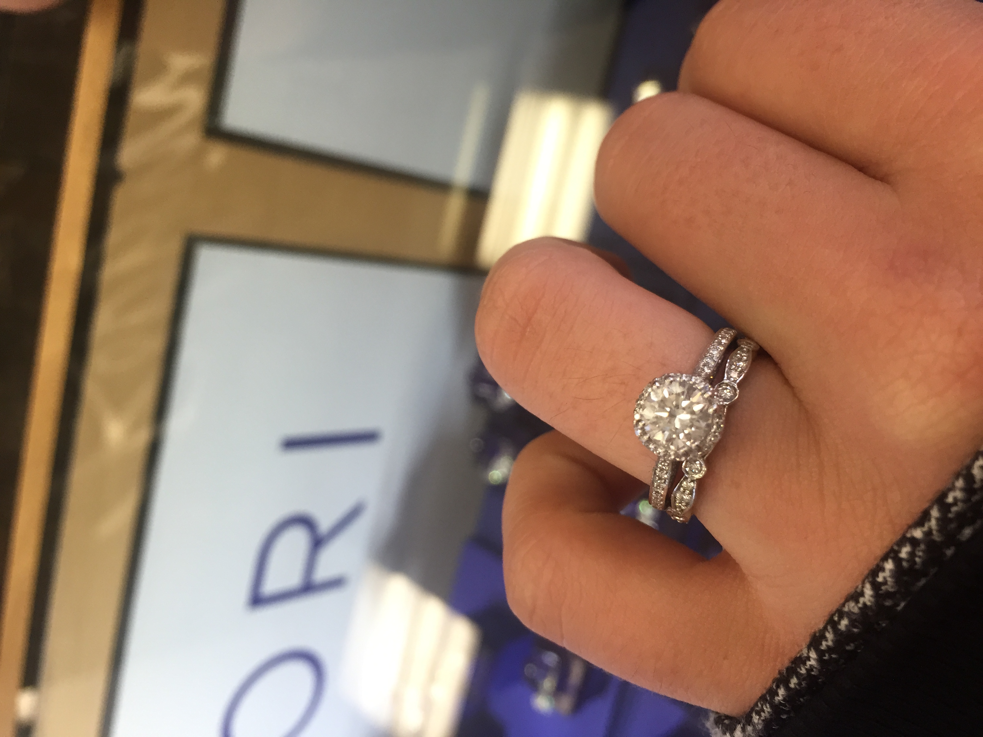Wedding Bands for Halo Engagement Ring Mismatch rings