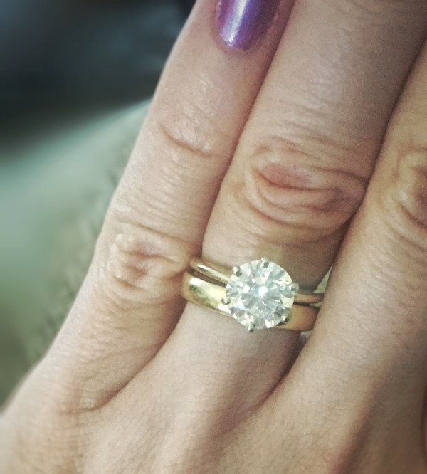 Thick Wedding Band Thin Engagement Ring