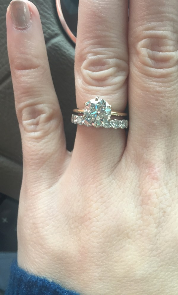 Thin Engagement Ring Thick Wedding Band