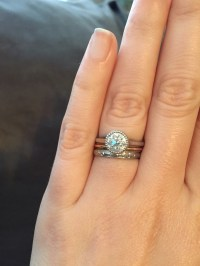 Looking for ideas for wedding band with bezel set ...