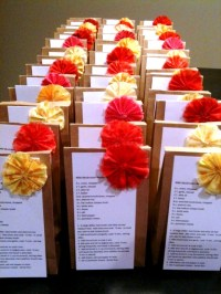 DIY Bridal Shower Recipe favors | Weddingbee Photo Gallery