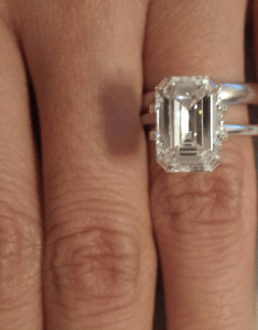 also emerald cut diamond carat size on hand rh boardsdingbee