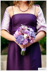 Shawls with bridesmaid dresses.