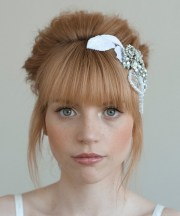 brides with full- front bangs