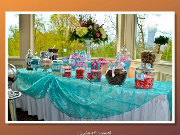 my pink and blue candy buffet yum  Weddingbee Photo Gallery