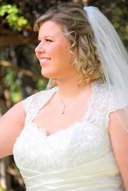 wedding updos with veil medium