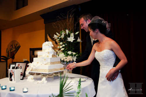 With This Wing: Cake Cutting :  wedding pictures pro pics recap san diego Recepti032 Recepti032