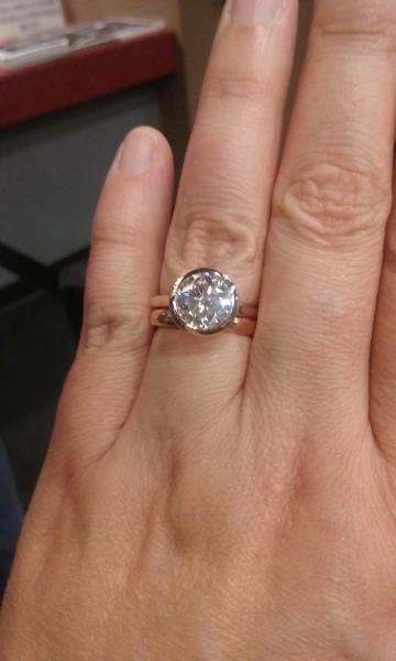 Real Engagement Rings: Moissanite