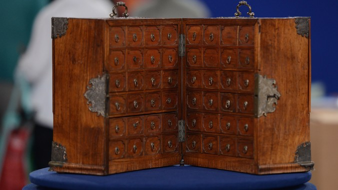 Chinese Export Huanghuali Cabinet ca 1740  Antiques