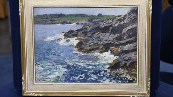 Edward Potthast Oil Painting ca 1920  Antiques Roadshow