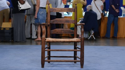 sikes chair company keter high review appraisals antiques roadshow pbs southern ladderback ca 1795