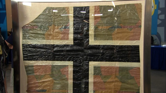 WWI German Aircraft Fabric Fragment ca 1918  Antiques