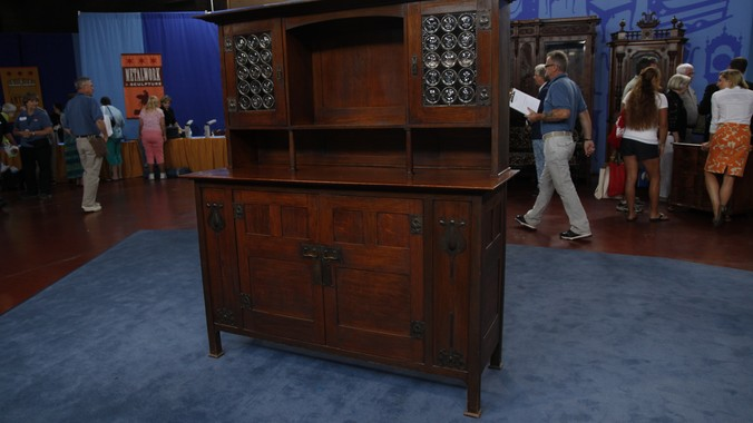English Arts  Crafts Sideboard attributed to Leonard